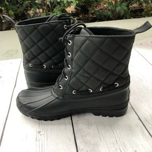 SPERRY Salt Water Quilted Leather Rain Boots